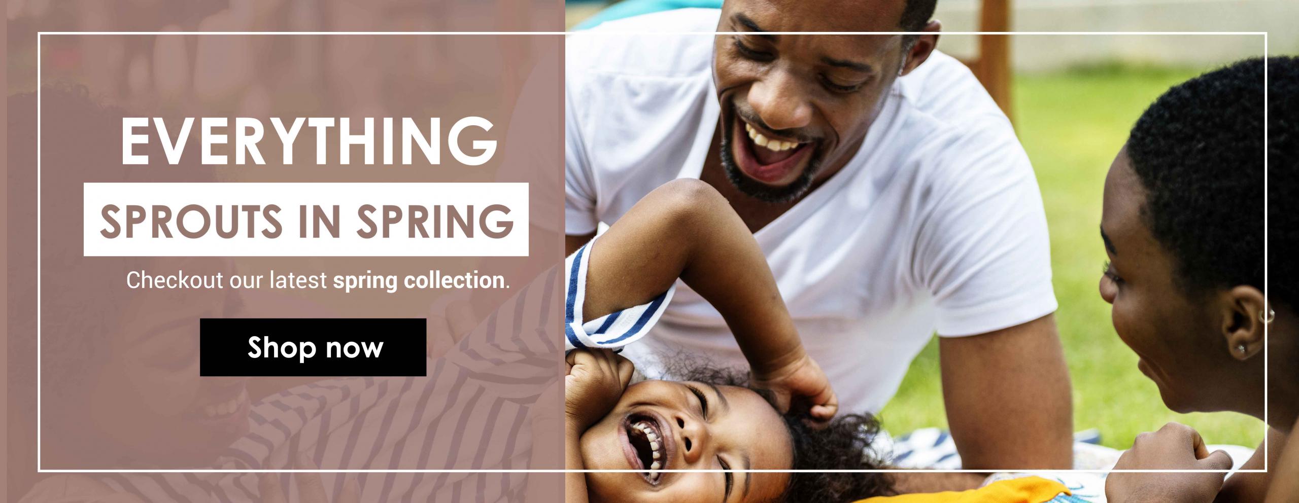 Spring family website barnner